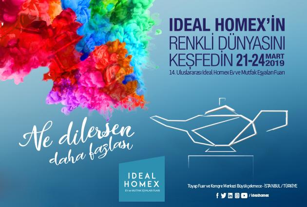 IDEAL HOMEX Ev Eşyaları, Züccaciye, Dekoratif Ürünler ve Çeyiz Fuarı