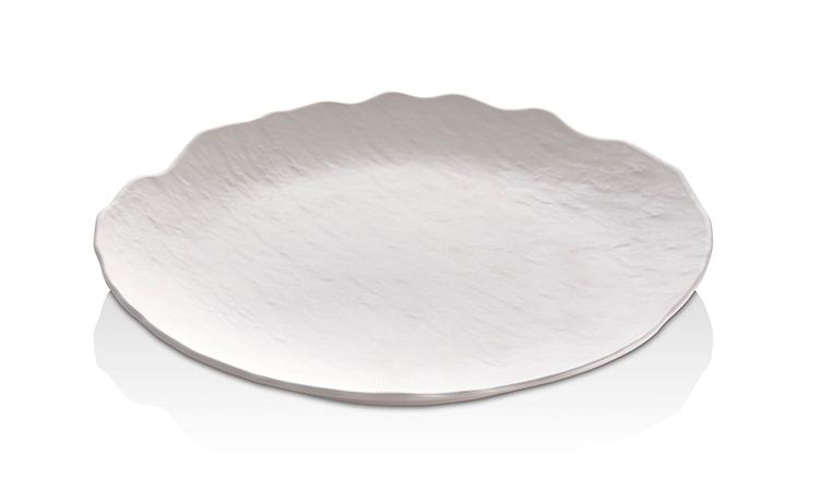MATT WHITE ROUND PLATE