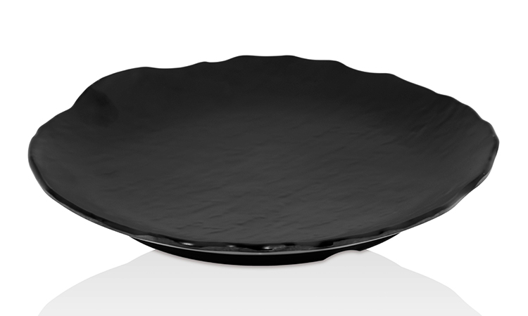 MATTE BLACK ROUND PLATE